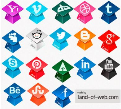 FREE Graduation Hats Social Icons Pack by NatalyBirch
