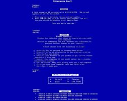 Fake Blue Screen of Death by Brian-Foxglove