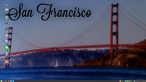 San Francisco Linux Mint 17 Desktop by PharaohAtisLioness
