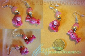 Bubblegum- Adventure time earrings by HikariFrey