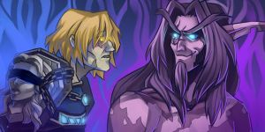 WoW: Byriel and Altairis couple icons by ryumo