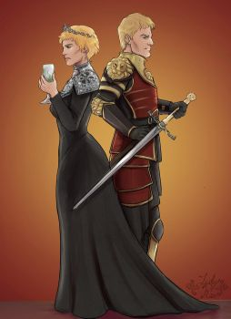 Cersei and Jamie by I-Am-A-Lady-Damn-It