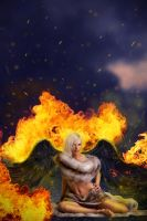 Flames and seduction by theancientsoul