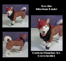 Wes the Siberian Husky Figurine by Bottled-Rottweiler