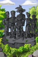 DBAF fananime shot - Statues by pgv