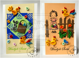 Quilling - Easter Cards by Eti-chan