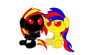 SkullFire and Shade: Foal Photo by NegaDuck13