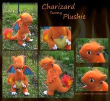 Charizard plushie with movable jaw by Samurai-Akita