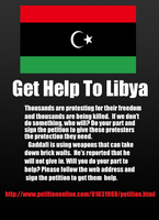 Get Help To Libya by SweetheartTemari