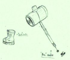.: Designs for the Ban Hammer and Kick Boots :. by PrideAlchemist7