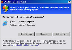 IE blocked by Windows Firewall by ComputerErrorClubII