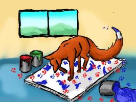 The Fox Painter by LunarMaddness