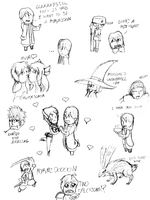 Fire Emblem Awakening Sketch Dump by KafeiKeton