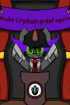 Make crystals great again! by Spottedtail-Cat-Art