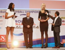 Tall volleyball players on stage by lowerrider