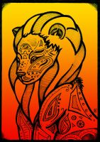Graphic lion by Tanami-M