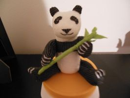 Vet Wrap Panda (front view) by Rosewolf86