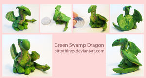 Green Swamp Dragon - SOLD by Bittythings