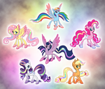 Alternate Rainbow Power Designs by salvicorn