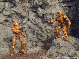 3D printed Robots painted_A by hauke3000