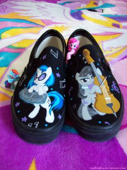 Vinyl Scratch and Octavia Pony Shoes by madrigles