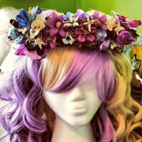Midnight Plum Flower Crown *FOR SALE* by princess-haru44
