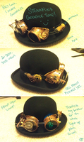 Made me some steampunk goggles by Camilleonn