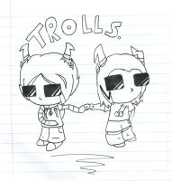 Trolls. by Sketching-Eclipse