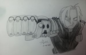 Edward Elric - Punch by alexasc82