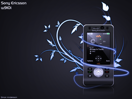 sony ericsson w910 custom by qillen