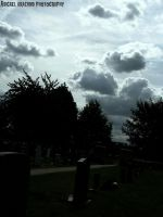 Sky over cemetery by Abigaelarachnid