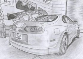 Toyota Supra MK IV In Garage by Arek-OGF