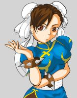 Just fooling around....Chun Li by ProjektKitsune