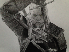 Geralt from the Witcher 3 Wild Hunt game. by Juzike