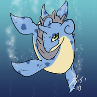 Bright Eyes the Lapras by The-Clockwork-Crow