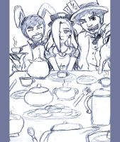 ino in wonderland sketch by Nishi06