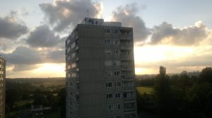 sunset 3 flat view by LETSOC