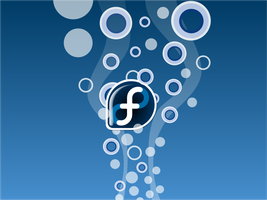 Fedora Bubble wallpaper by kourge