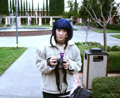 Hinata with Camera by lesliesketch