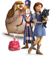 Dorothy and her new Oz friends by montey4