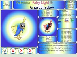 Pokemon Fairy Light and Ghost Shadow ''033'' by AndkeAnka