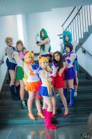 Anime Boston: Sailor Moon Group by xstrawberrymilk