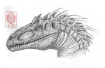 Indominous Rex by LycanthropeHeart