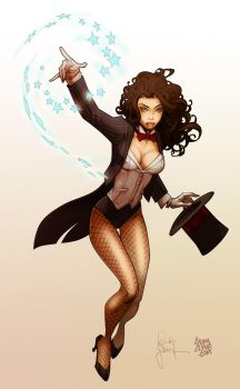 Painting Randy Green's Zatanna by Calvinclyke