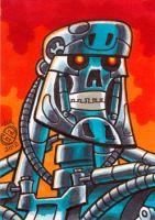 Terminator Endoskeleton Sketch Card by Chad73