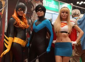 NYCC 2014 Batgirl Nightwing Supergirl 2 by kamau123
