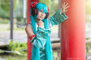 World's End Dancehall Miku Cosplay by vividplus