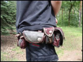 Archery belt pouches #2 by LeatherCraft
