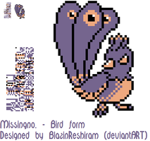 Missingno. Bird by BlazinReshiram
