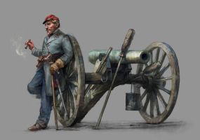 artillery captain by Skvor
